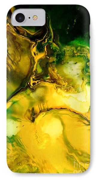 Yellow Jacket Abstract Art Phone Case by Serg Wiaderny