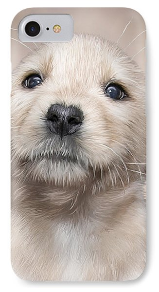 Yellow Lab Pup IPhone Case