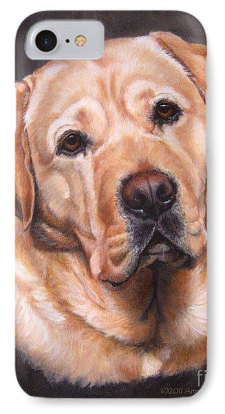 Yellow Labrador Portrait - Dark Yellow Dog IPhone Case