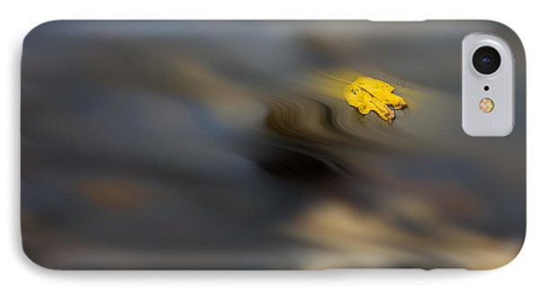 Yellow Leaf Floating In Water Phone Case by Dan Friend