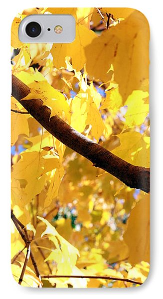 Yellow Leaves Phone Case by Valentino Visentini