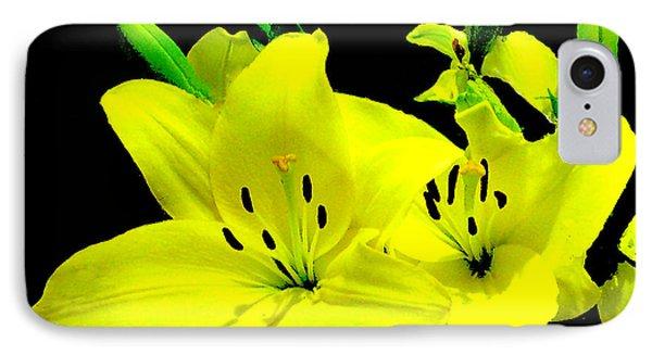 Yellow Lilies IPhone Case by Merton Allen