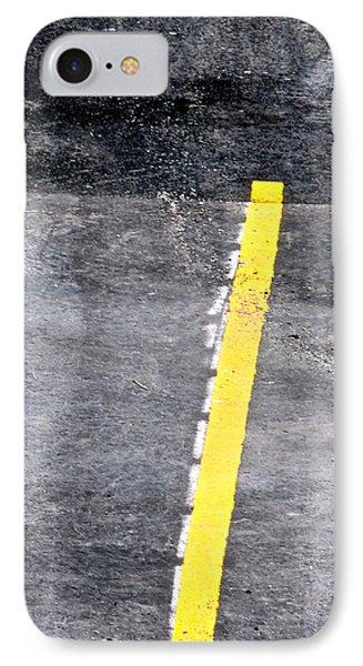 Yellow Line Phone Case by John Illingworth