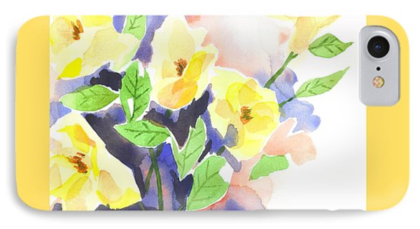 IPhone Case featuring the painting Yellow Magnolias by Kip DeVore