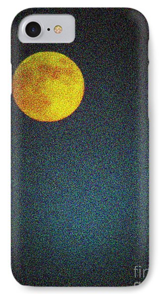 Yellow Man In The Moon Phone Case by Colleen Kammerer