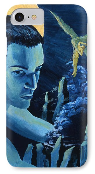 Yellow Moon Phone Case by Rene Capone