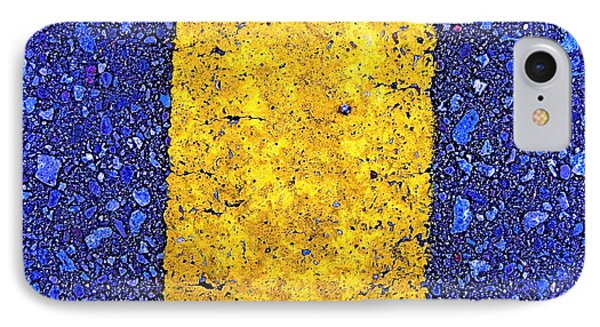 Yellow On Blue Stone IPhone Case