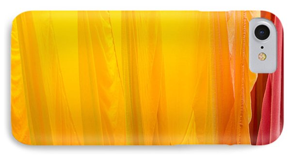 Yellow Orange And Red Bed Sheets Bright And Colorful IPhone Case by Matthias Hauser