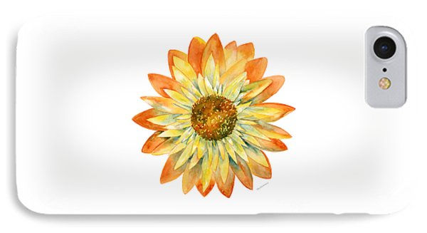 Yellow Orange Daisy IPhone Case by Amy Kirkpatrick
