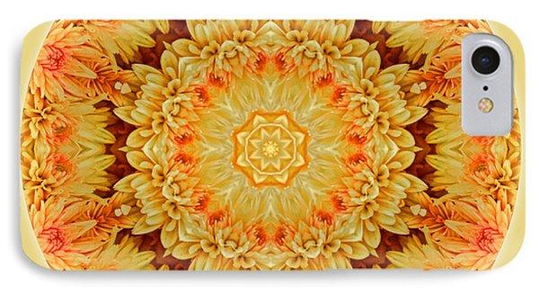 Yellow Orange Mum Mandala IPhone Case