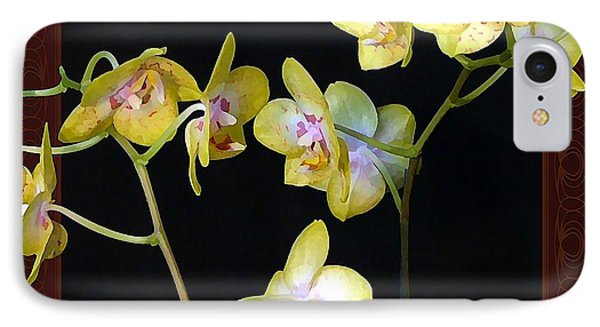 Yellow Orchids Phone Case by Mindy Newman