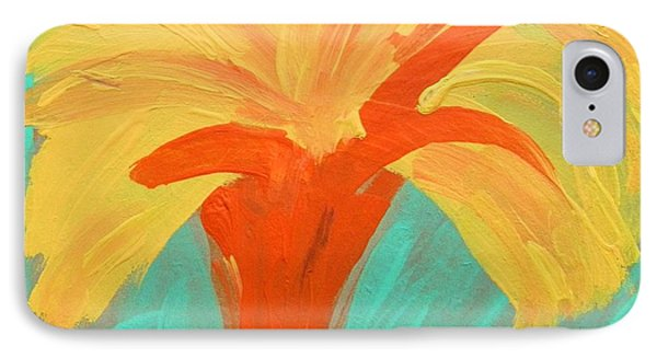 IPhone Case featuring the painting Yellow Palm by Mary Carol Williams