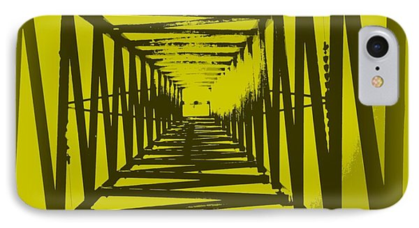 IPhone Case featuring the photograph Yellow Perspective by Clare Bevan