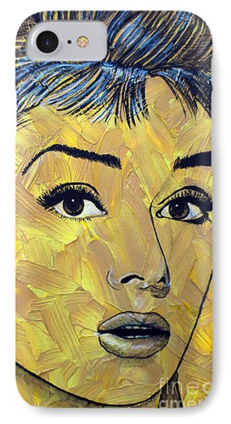Yellow Pop Audrey IPhone Case