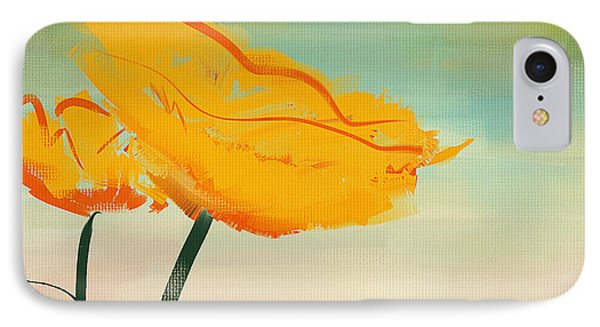 Yellow Poppies IPhone Case by Lourry Legarde