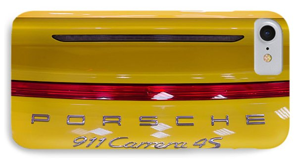 yellow Porsche IPhone Case