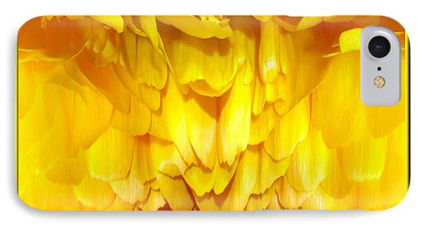 Yellow Ranunculus Abstract Phone Case by Rose Santuci-Sofranko