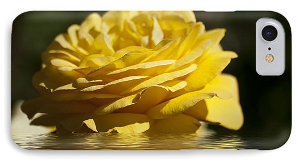 Yellow Rose Flood Phone Case by Steve Purnell