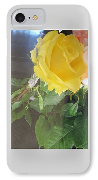 Yellow Rose- Greeting Card IPhone Case