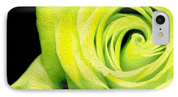 Yellow Rose IPhone Case by Jon Neidert