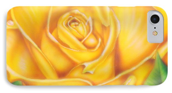 Yellow Rose Of Texas IPhone Case by Darren Robinson