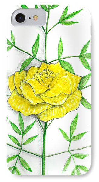 Yellow Rose With Shadows IPhone Case
