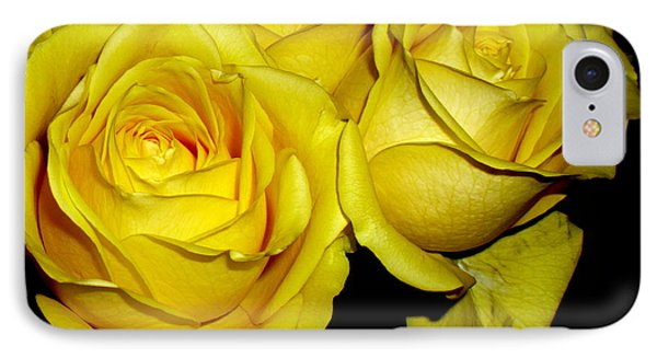 IPhone Case featuring the photograph Yellow Roses by Fred Wilson