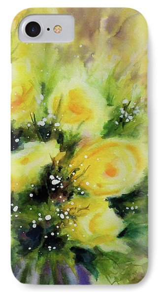 Yellow Roses IPhone Case by Kathy Braud