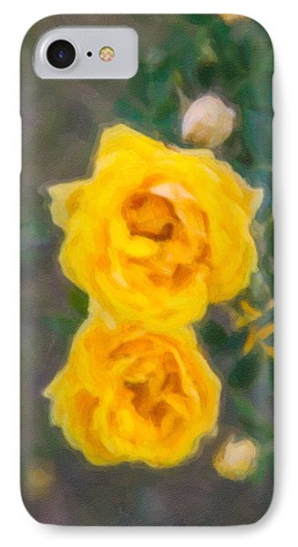Yellow Roses On A Bush Phone Case by Omaste Witkowski