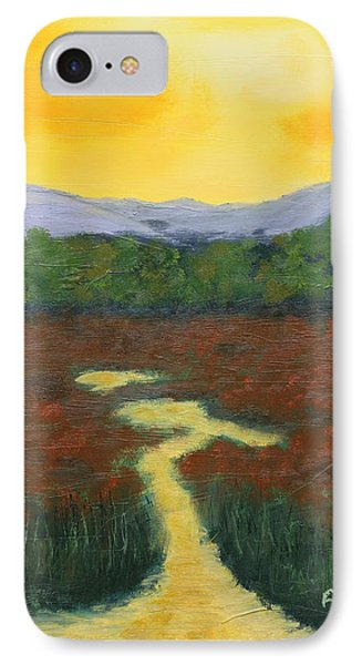 Yellow Sky IPhone Case by Alan Mager
