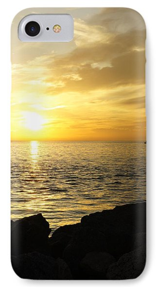 Yellow Sky IPhone Case by Laurie Perry