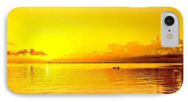 Yellow Sky Sunset IPhone Case by Lewis Mann