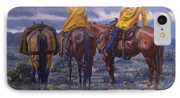 Yellow Slickers Phone Case by Randy Follis