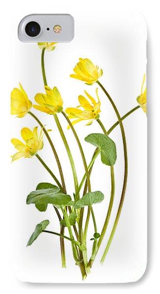 Yellow Spring Wild Flowers Marsh Marigolds Phone Case by Elena Elisseeva