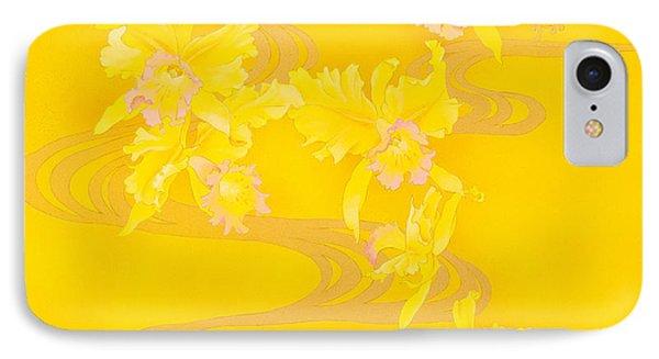Yellow Stream Phone Case by Haruyo Morita