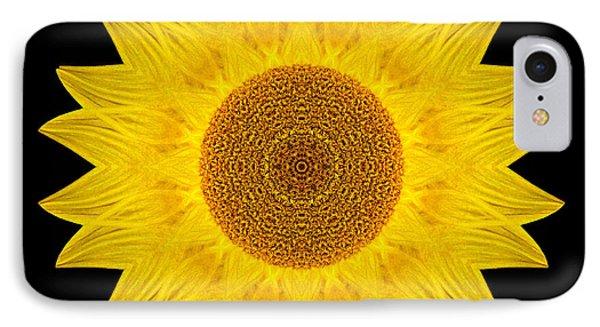 Yellow Sunflower Ix Flower Mandala Phone Case by David J Bookbinder