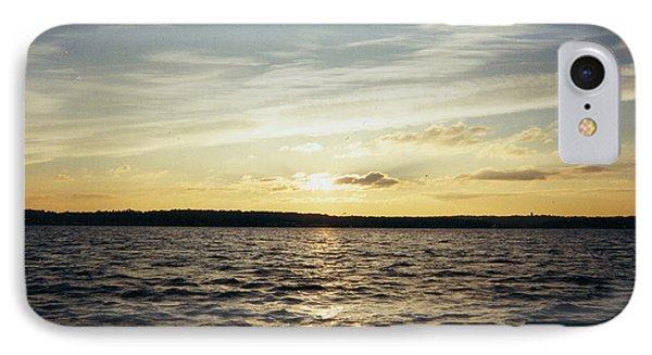 Yellow Sunrise In Manhassett Bay Phone Case by John Telfer