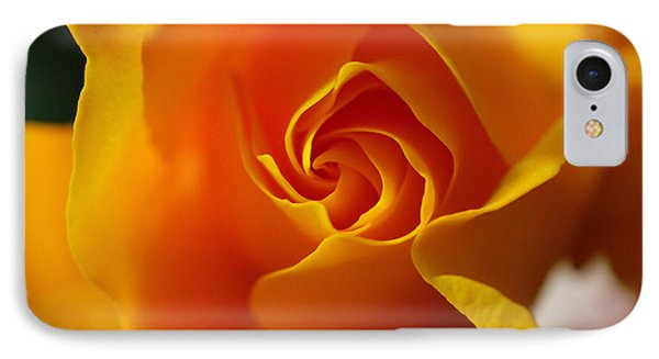 Yellow Swirl IPhone Case by Joe Schofield
