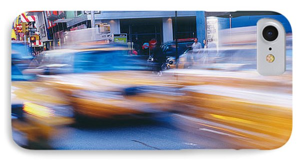 Yellow Taxis On The Road, Times Square IPhone Case