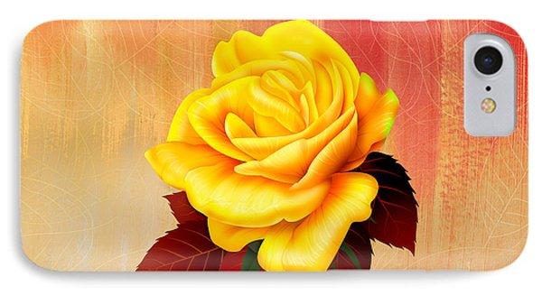 Yellow Tea Rose IPhone Case by Bedros Awak