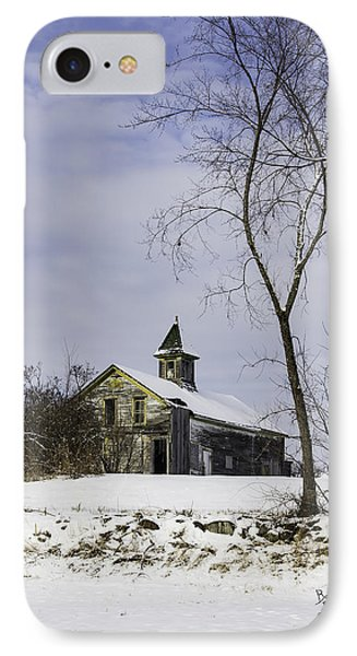 Yellow Trimmed Barn IPhone Case by Betty Denise