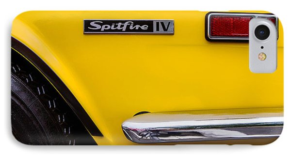 Yellow Triumph Spitfire Phone Case by Jerry Fornarotto