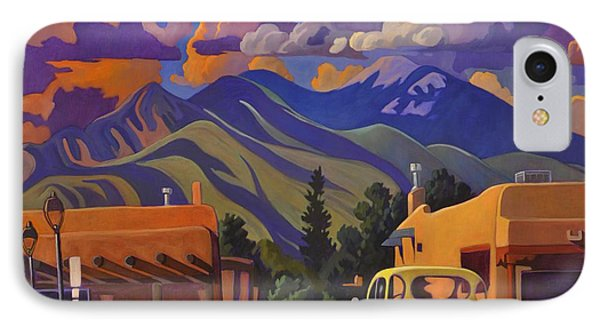 IPhone Case featuring the painting Yellow Truck by Art James West