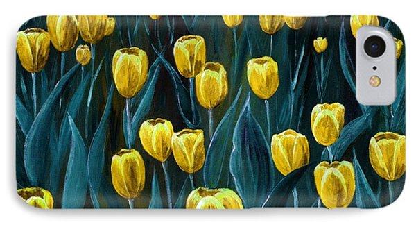 Yellow Tulip Field Phone Case by Anastasiya Malakhova