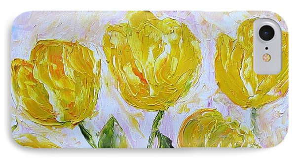 Yellow Tulips And Butterfly IPhone Case