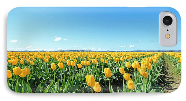 IPhone Case featuring the photograph Yellow Tulips by E Faithe Lester