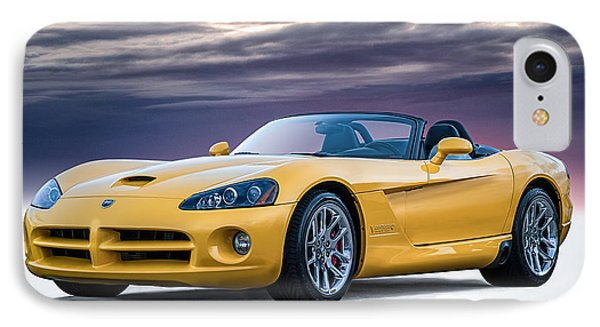Yellow Viper Convertible IPhone Case by Douglas Pittman