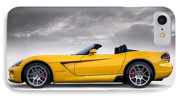 Yellow Viper Roadster IPhone Case by Douglas Pittman