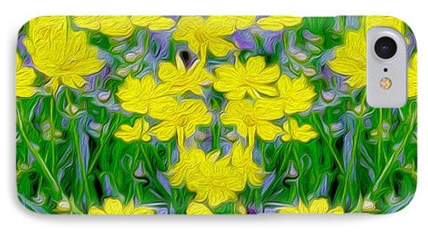 Yellow Wild Flowers Phone Case by Jon Neidert