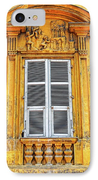 IPhone Case featuring the photograph Yellow Window Nice France by Dave Mills